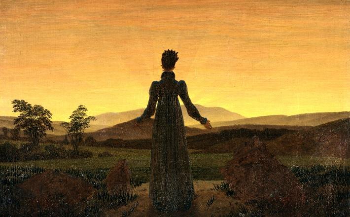 Woman before the Rising Sun
