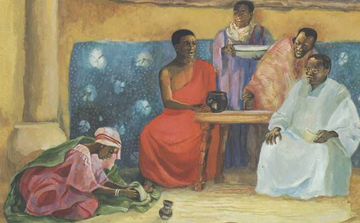 Jesus absolves the penitent sinner