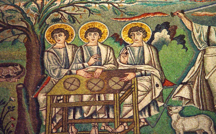 St. Vitale - Abraham and the Three Angels