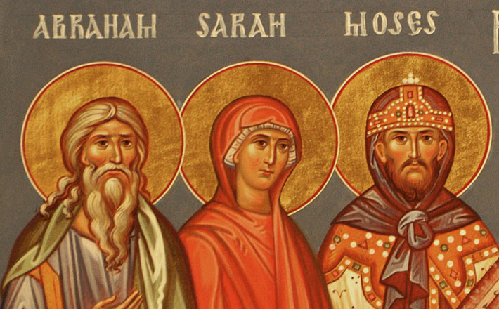 Icon of Abraham, Sarah, and Moses