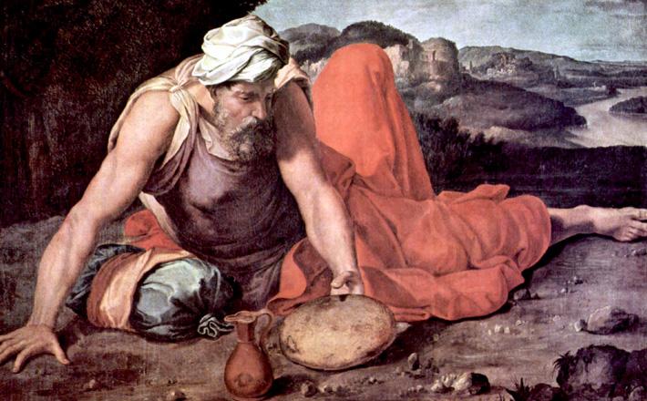 Prophet Elijah on Mount Horeb