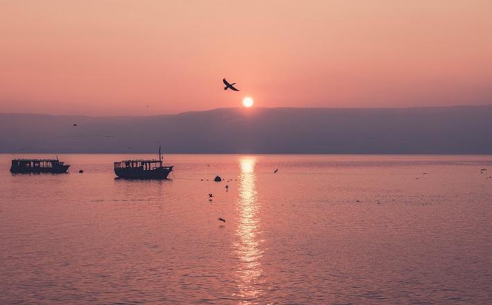 Sea of Galilee at sunset