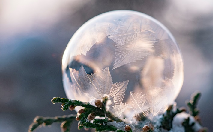 frozen glass ball