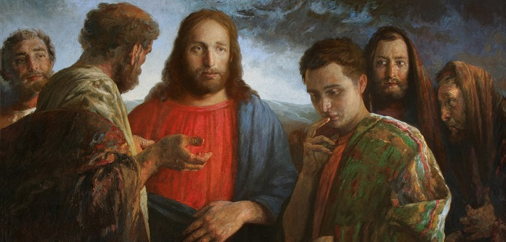 Christ and the Rich Young Man (painting by A. N. Mironov